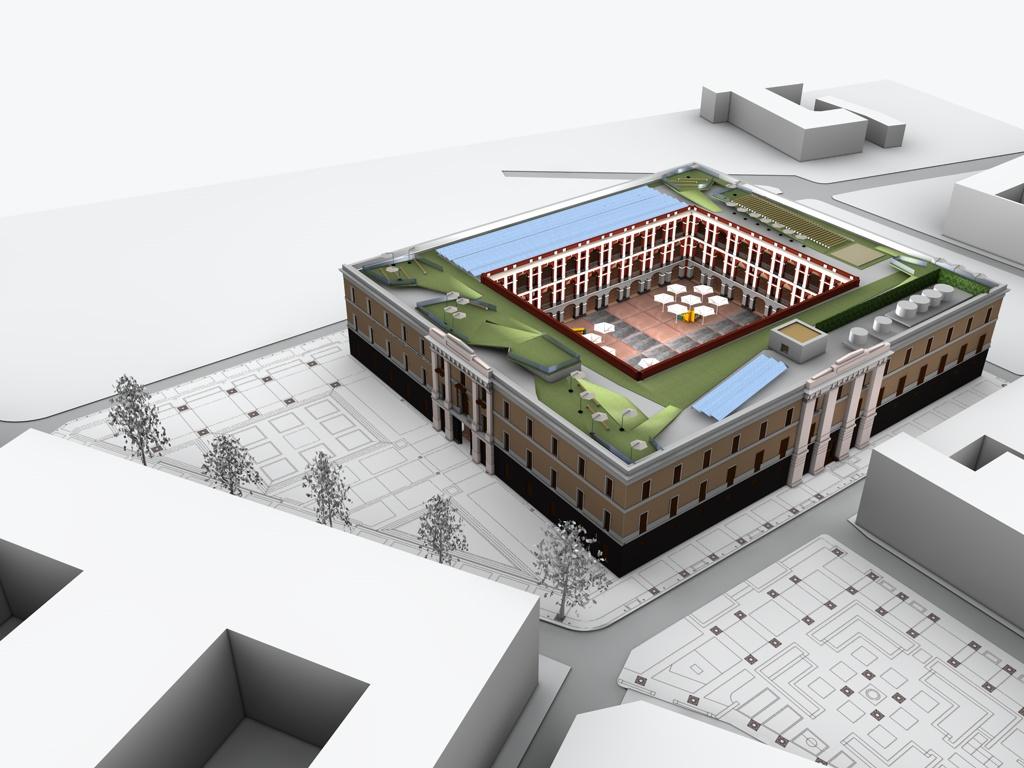 Cuartel de Ballajá roof proposal rendering. 2010