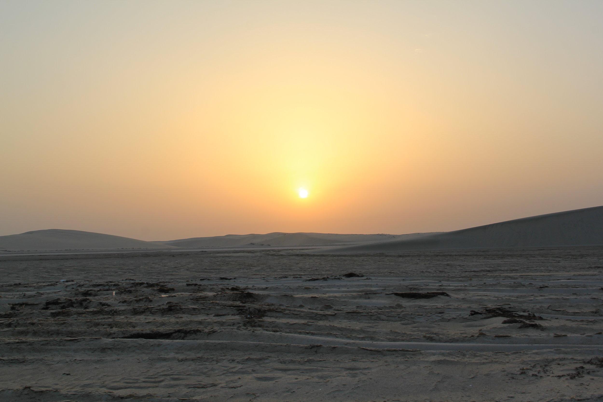 The Desert at Sunset. Mesaieed Sand Dunes, Mesaieed, Qatar. Taken by: Tyanna LC