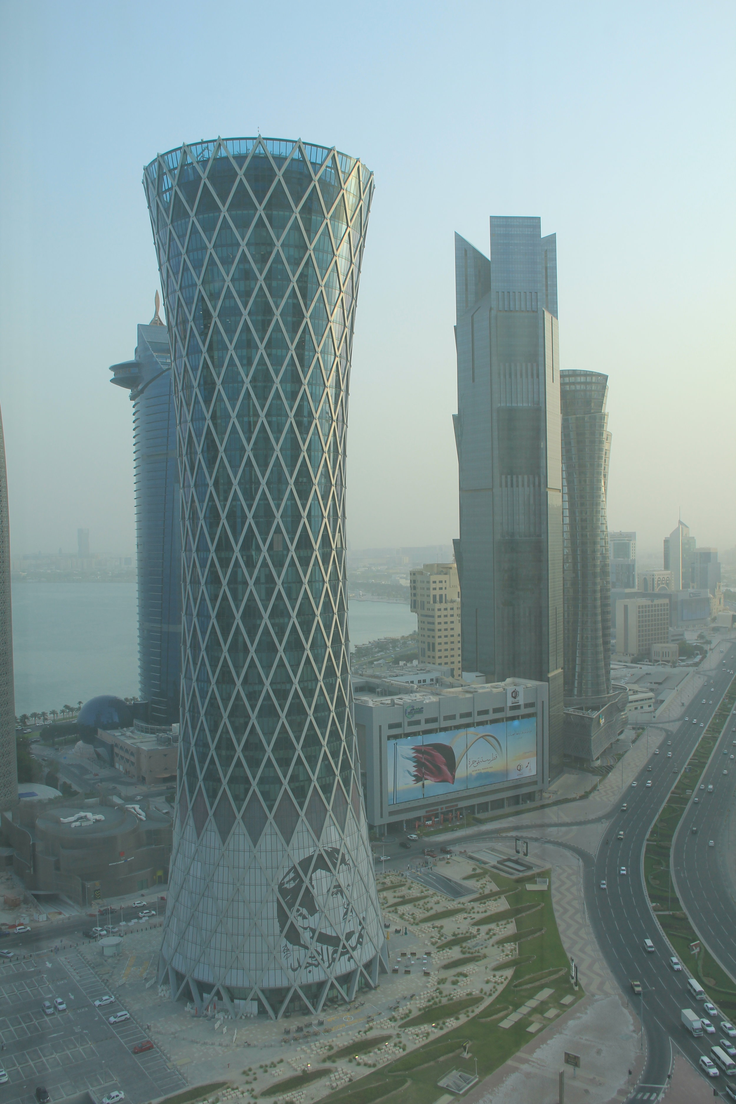 Tamim on Tornado Tower. Tornado Tower, West Bay, Doha, Qatar. Photo taken by: Tyanna LC