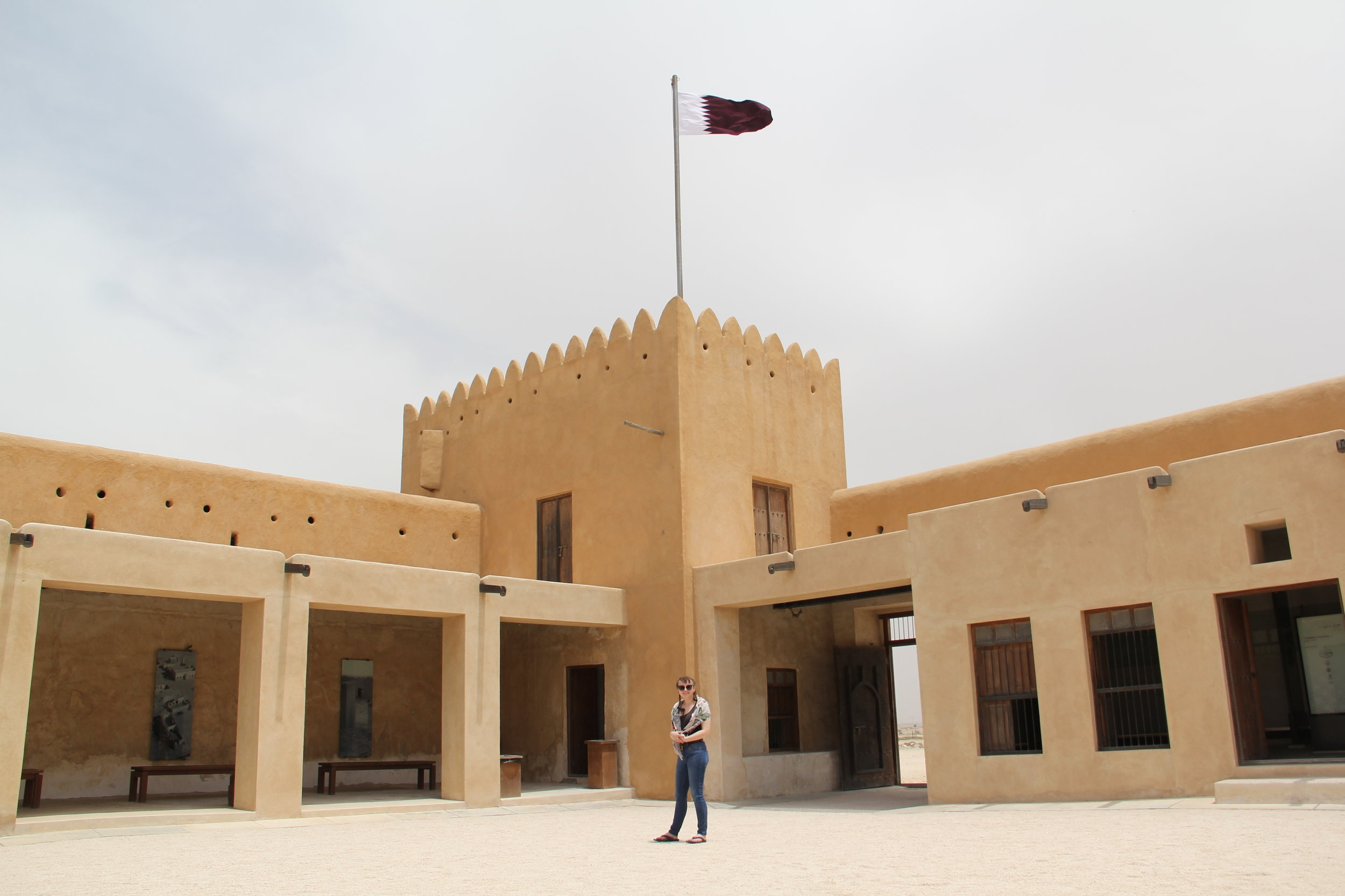 At the Fort! Al Zubara Fort, Al Zubara, Qatar.