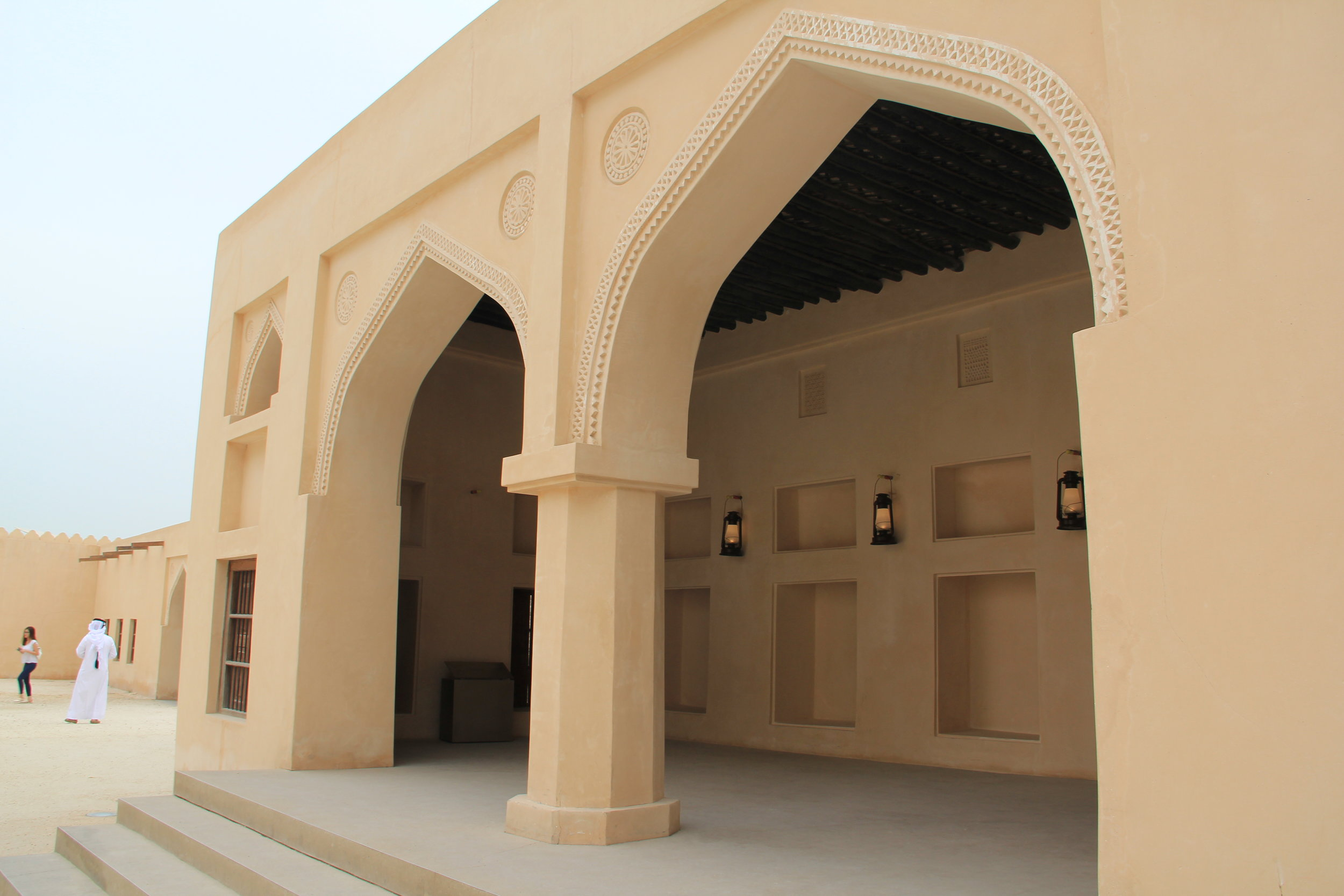 Old Emir's palace. National Museum of Qatar, Doha, Qatar. Taken by Tyanna LC