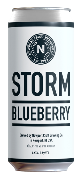 Storm Blueberry - Style: Kölsch AleABV: 4.6%Notes: Kölsch Ale made with real blueberriesAvailable in cans or bottles