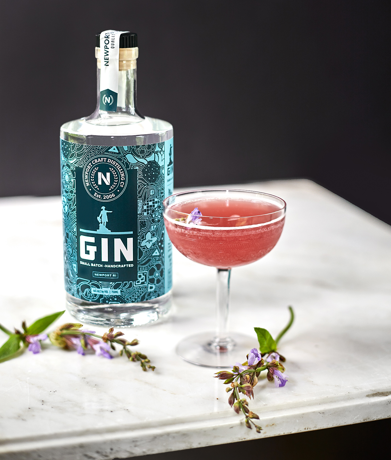The Honey Bee - spin on a classic Bees Knees with  Newport Craft Gin , blueberry, and sage