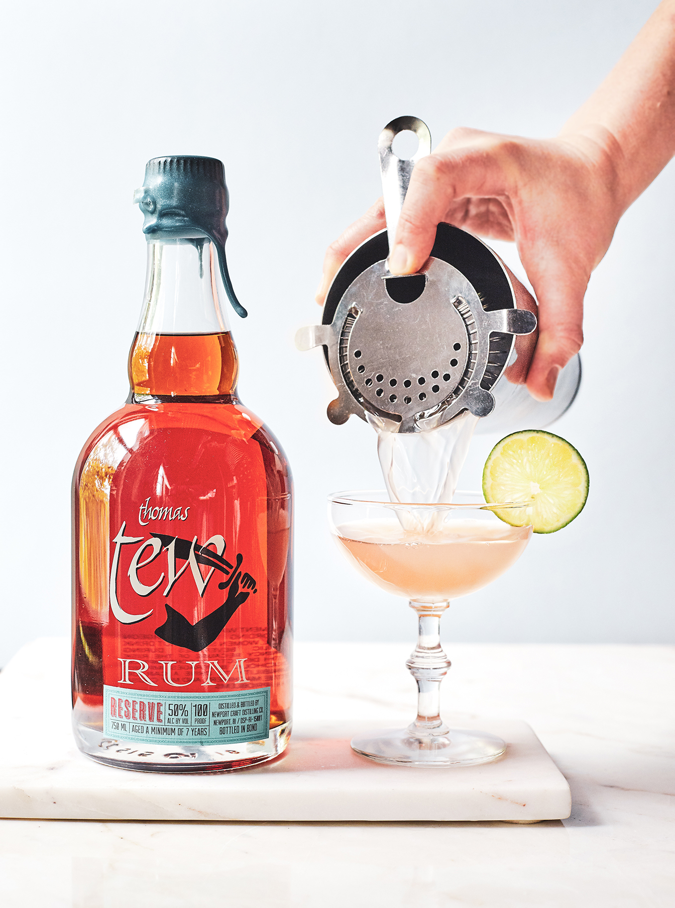 Newport Daiquiri  - spin on a classic daiquiri with  Newport Craft Thomas Tew Rum Reserve ,  fresh lime, and honey
