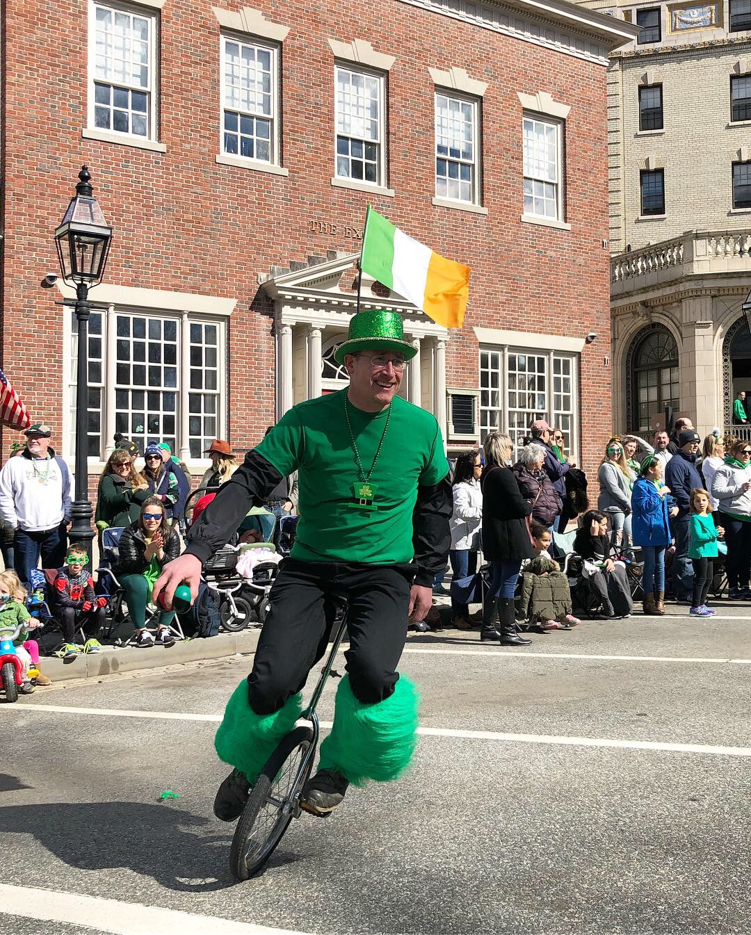 Derek in the St. Patrick's Day Parade