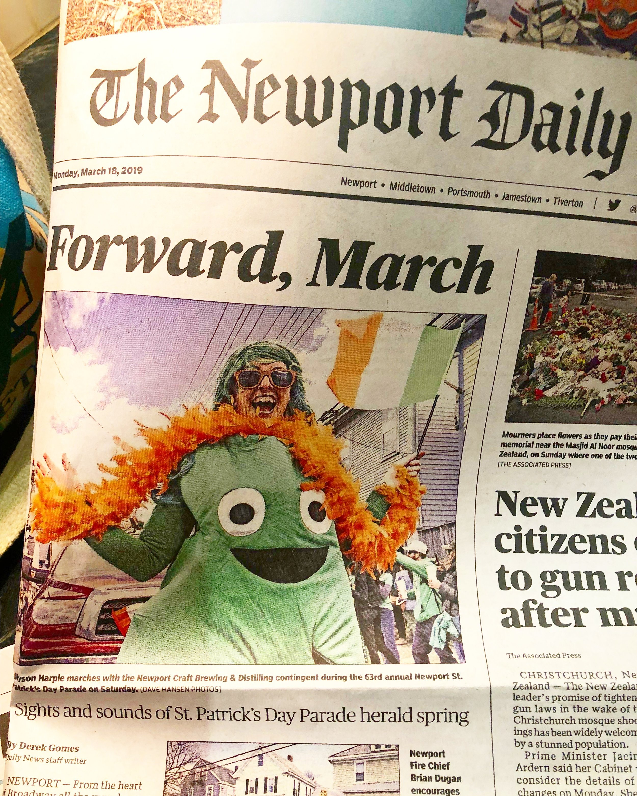 Front Page News - St. Patrick's Day Parade