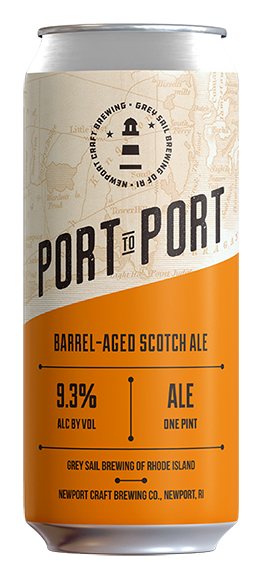 port to port - Style: Barrel-Aged Scotch AleABV: 9.3%We teamed up with Grey Sail to release a Scotch Ale that's been aged in our Sea Fog Whiskey barrels for 12 months. Never before have we aged beer in our whiskey barrels so this is our most rare beer to date!