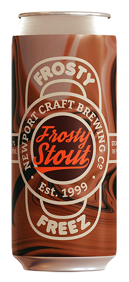 Frosty Stout - Style: StoutABV: 6.7 %The Frosty Freez crew generously shared the crucial ingredient — their vanilla soft serve blend– while we dialed it up with some cocoa nibs from Ghanna. Our Frosty Stout is their famous Vanilla-Chocolate twist turned into a creamy, delicious stout.