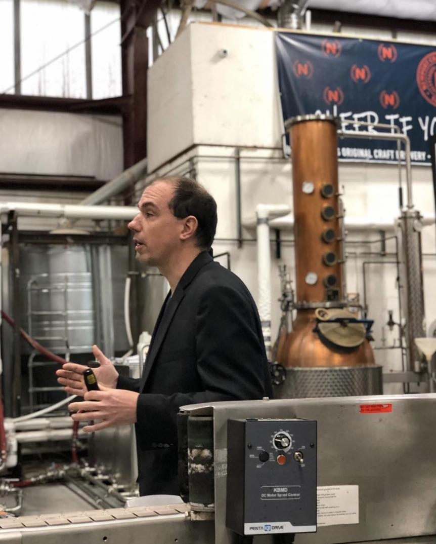 Brent Ryan Master Distiller Newport Craft Brewing & Distilling