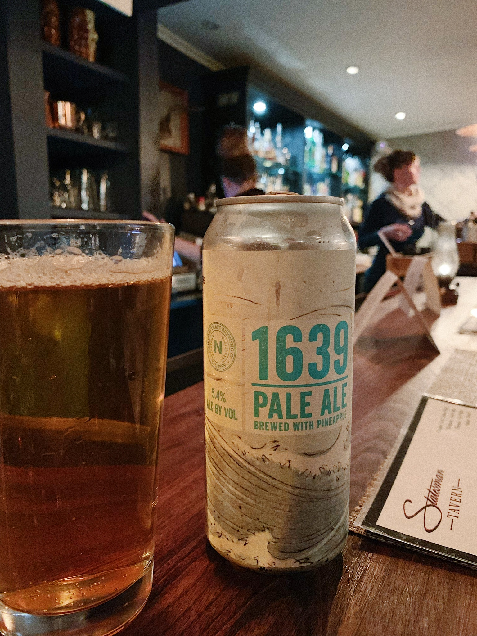 Statesman Tavern Newport Craft 1639 Pale Ale