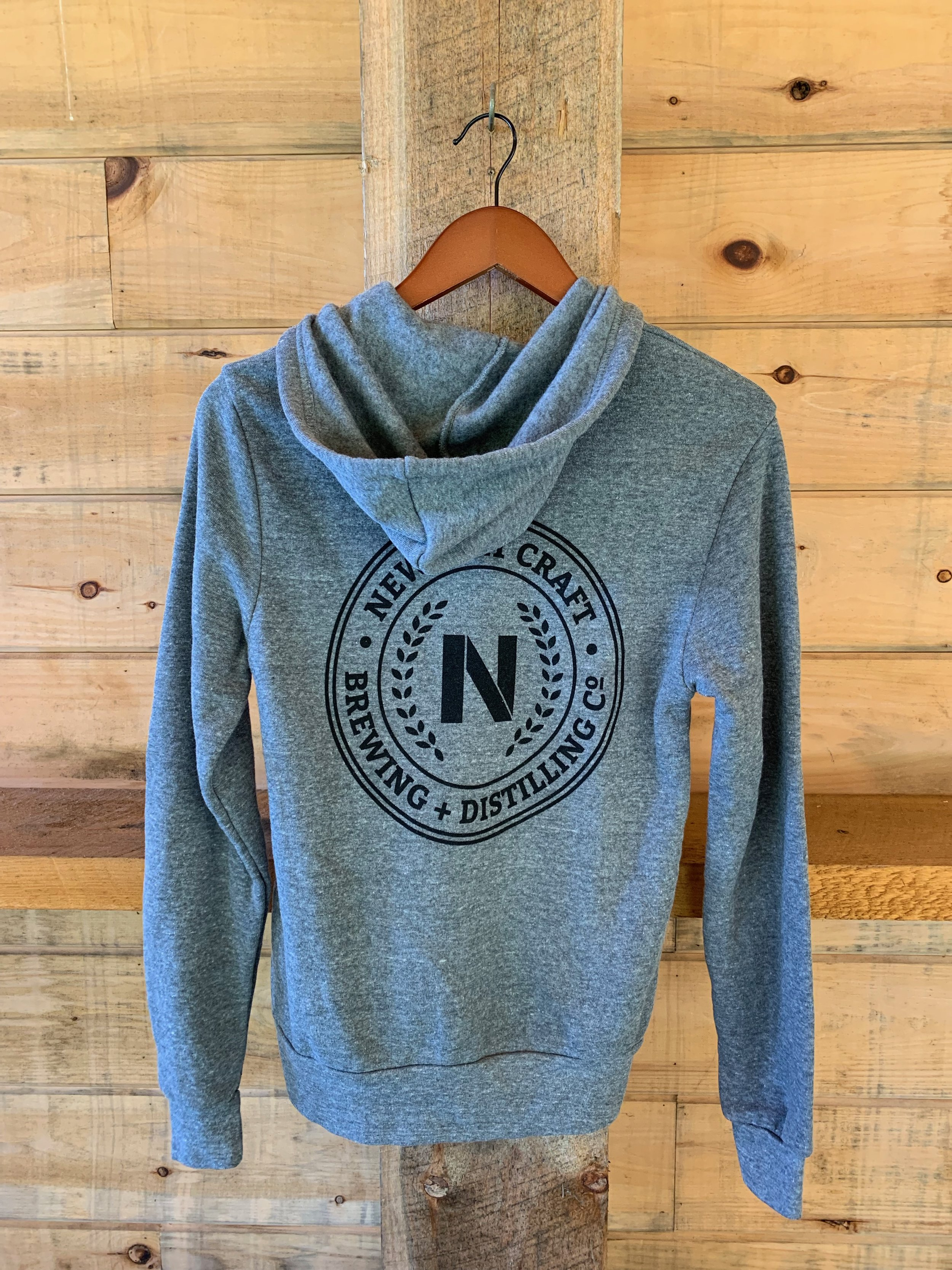 Grey pullover hoodie $42 - Available in XS-XXL.