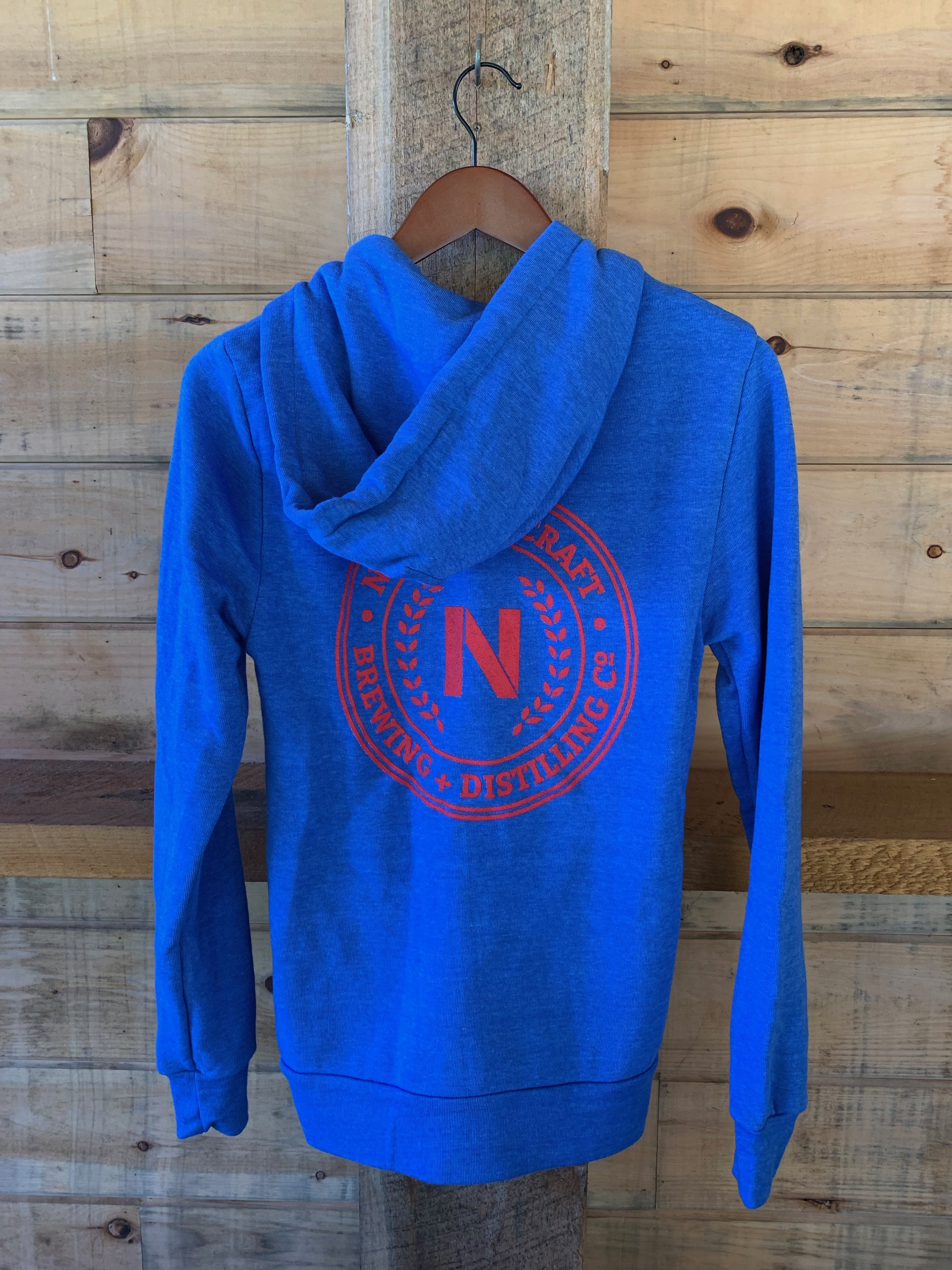 Blue Zip-up Hoodie $44 - Available in XS-XXL.