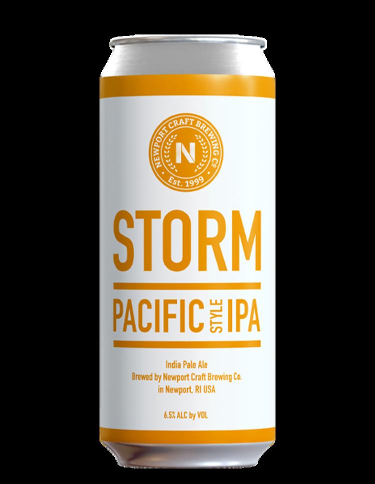 NEWPORT CRAFT BREWING Newport Storm Amber circl STICKER decal craft beer brewery