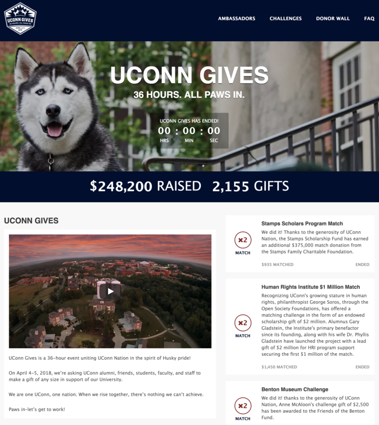 "UConn has hired a position to focus on ""business intelligence"" and finding the best technology to lead their engagement and fundraising efforts."