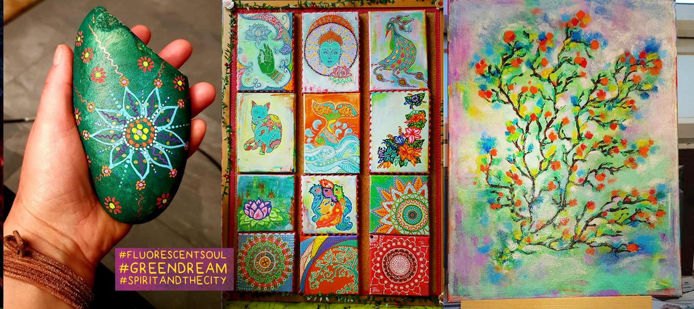 my vision of the reality dedicated to Green Tara | Green Dream Art, Sandra