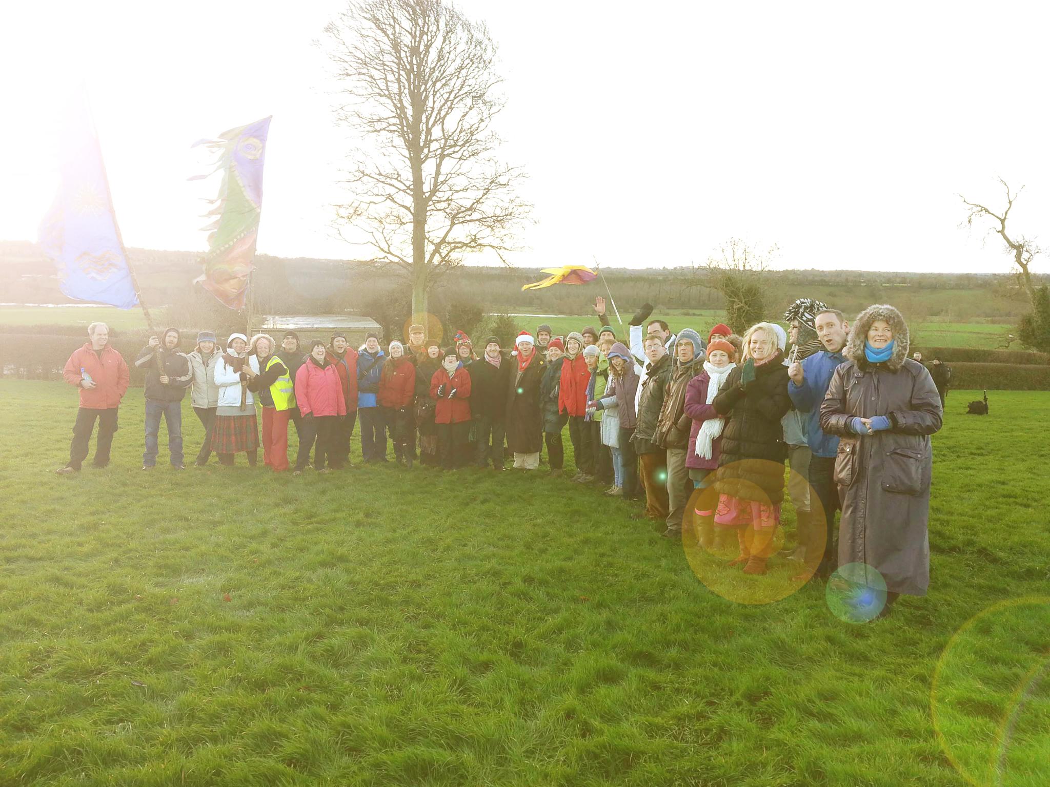 Winter solstice 2013 at Newgrange Solstice sunrise