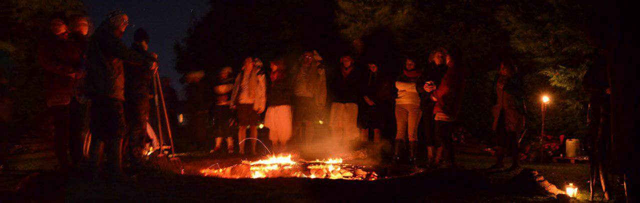 Solstice Fire 2013 at Sweat Lodges, Glebe HOuse, near Dowth