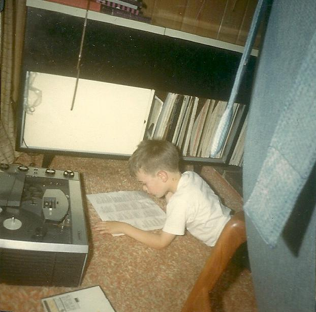 Bob in 1966, hanging out around the tape recorder.