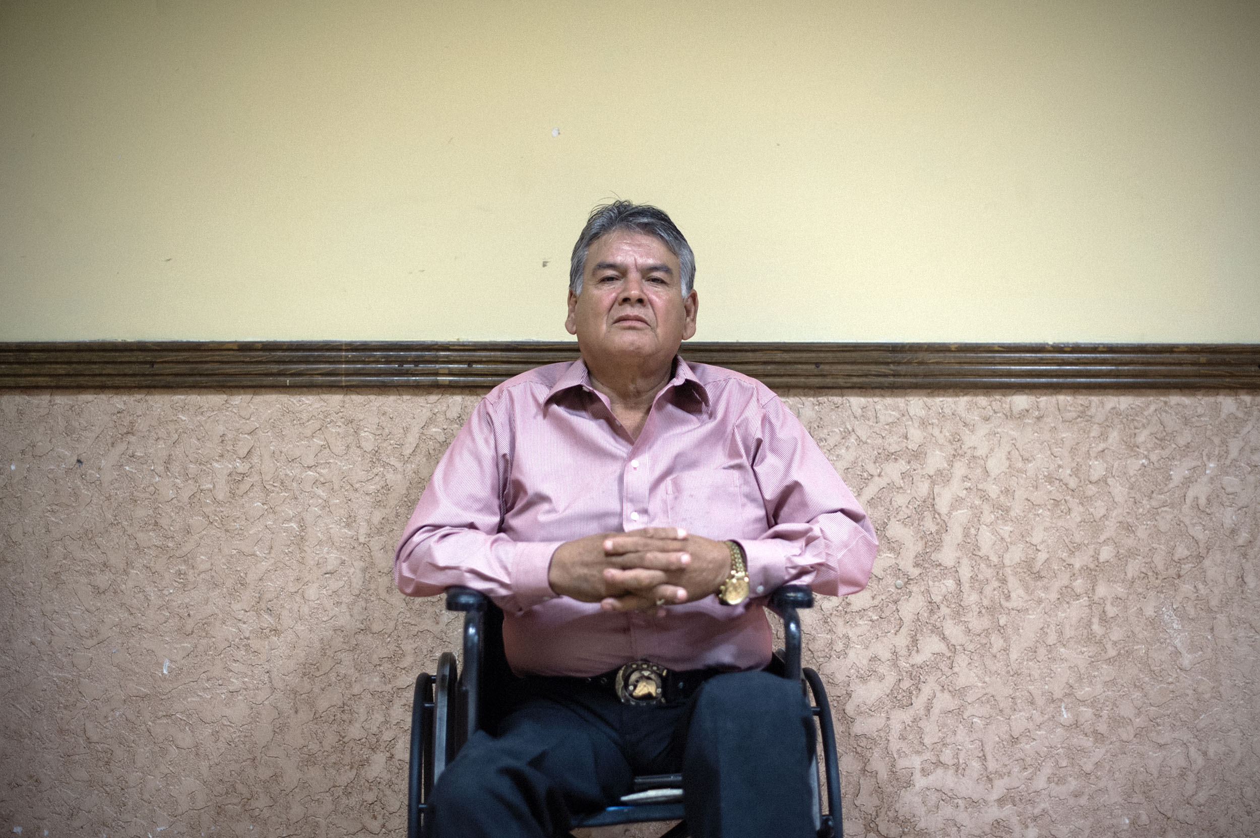 Osvaldo Moya, a lawyer from Chihuahua City, Mexico, campaigns to stop the Trans-Pecos Pipeline.