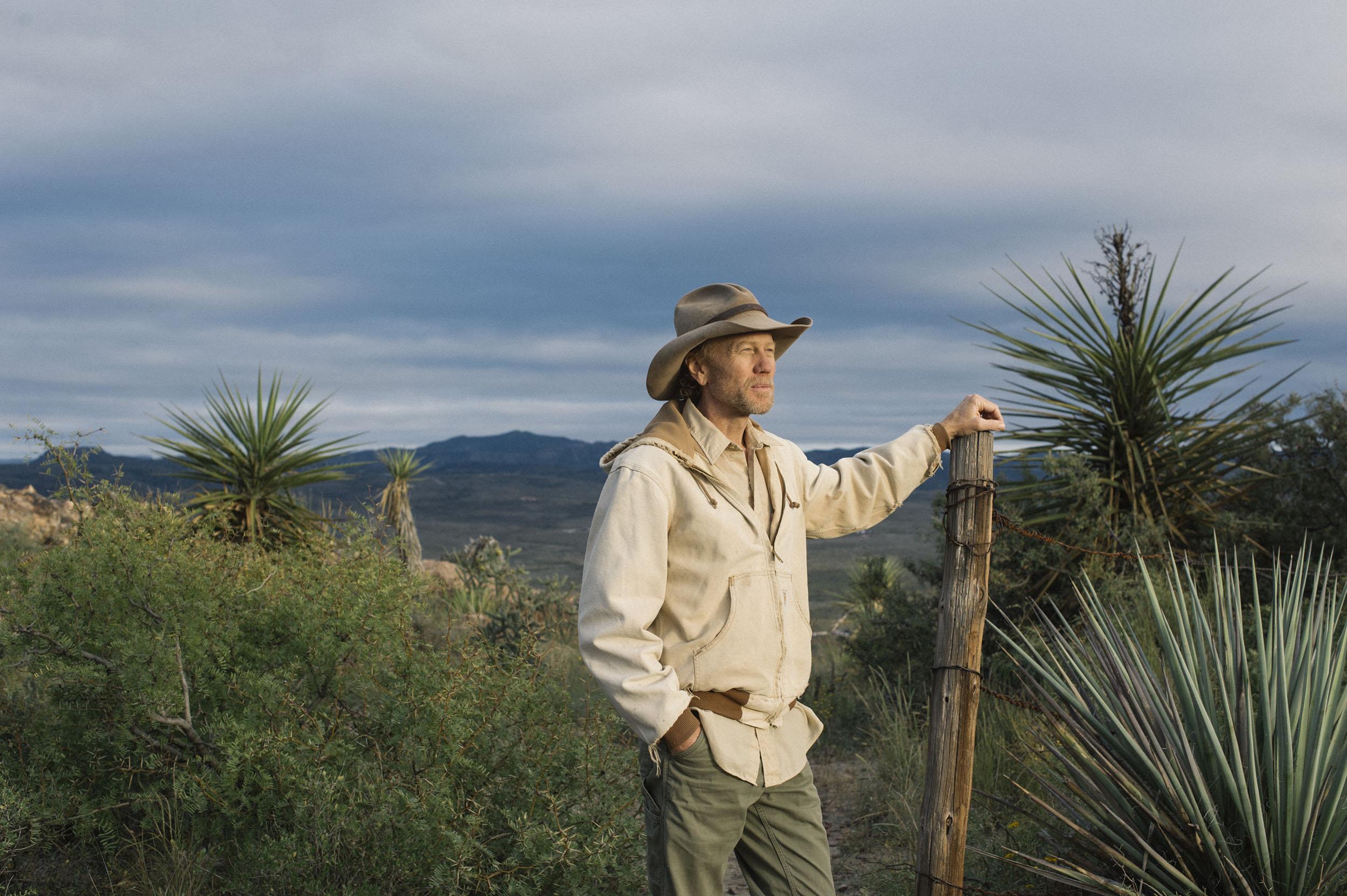 David Keller of the Big Bend Conservation Alliance walks on Hancock Hill.