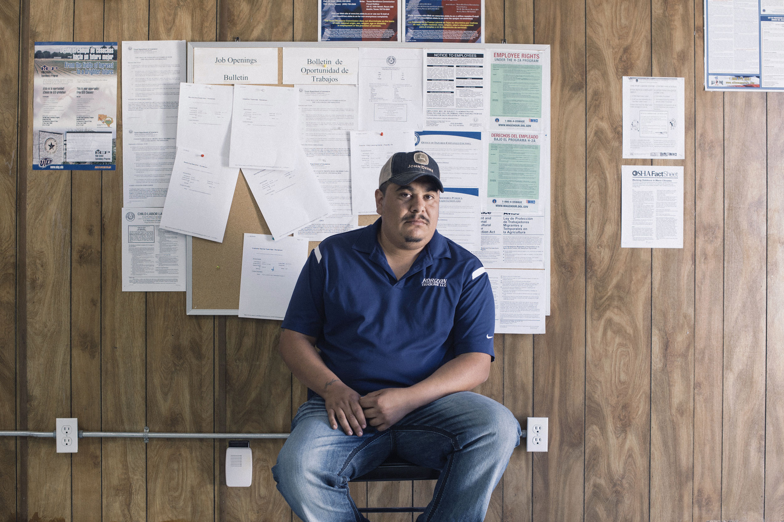 Jesus Carrasco has moved to Presidio from Lovington, New Mexico, hoping to work on the pipeline.