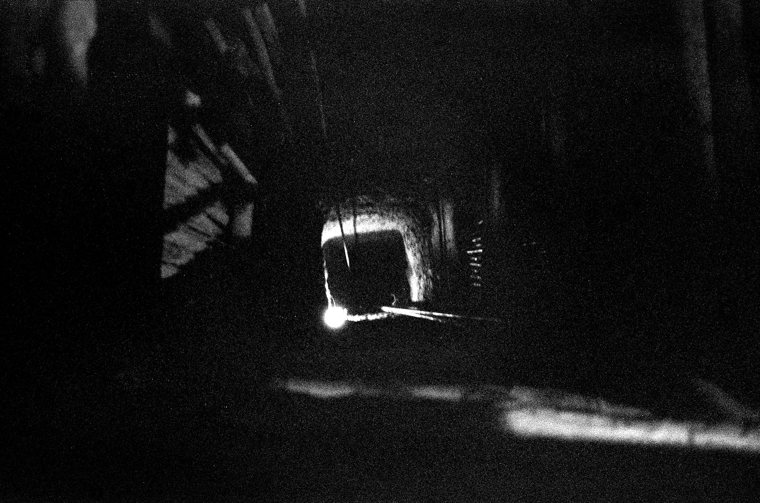 A mine shaft at night. Gold miners work around the clock to meet increasing demand.