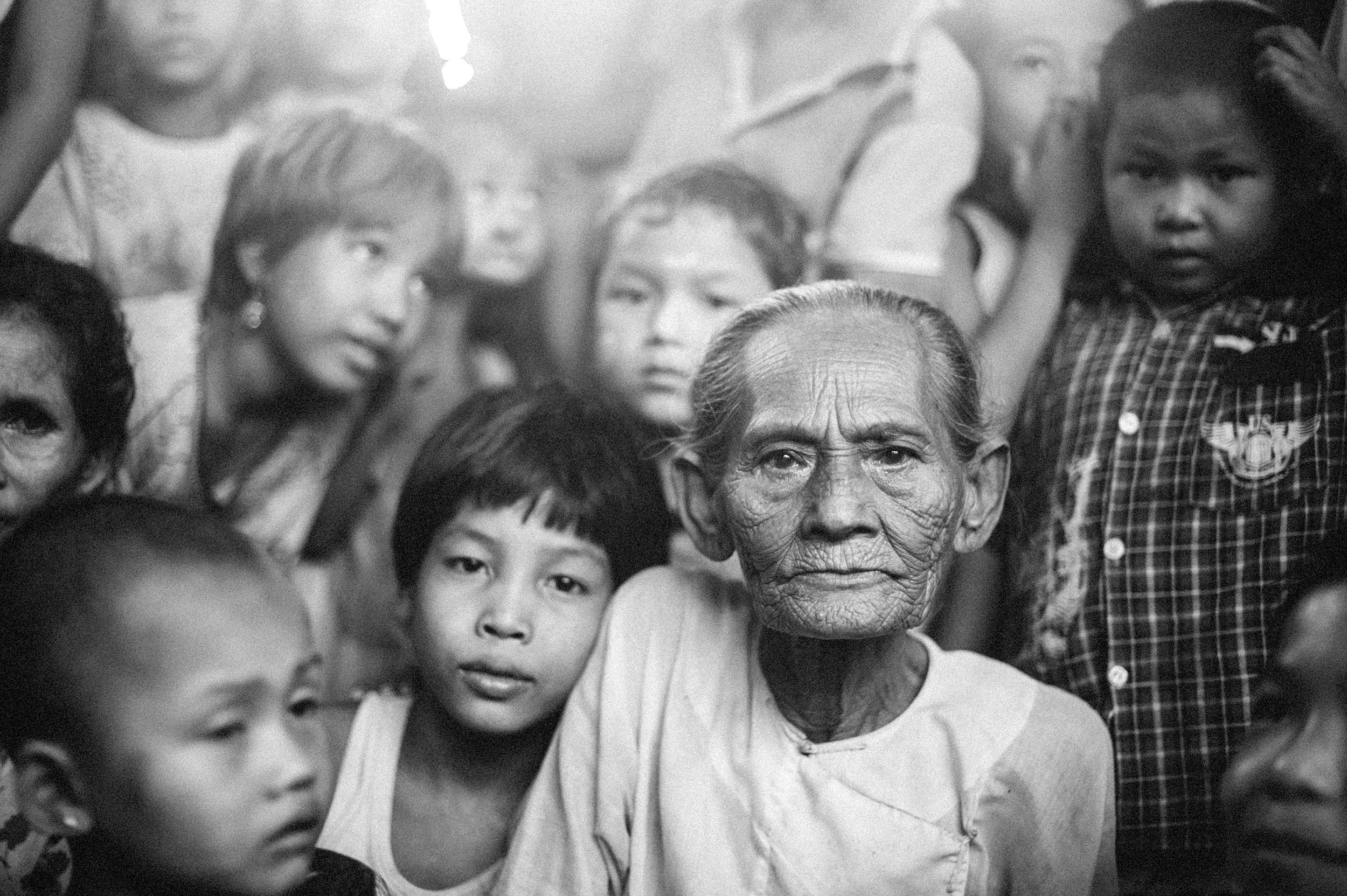 Thousands of refugees gathered in the city's monasteries after loosing their homes to arson in Sittwe.