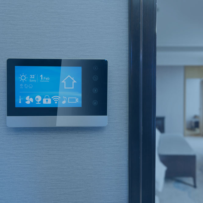 <p><strong>FEEL</strong>Embrace the comfort and support of temperature control, home and business security solutions, and more<i>MORE →</i></p>