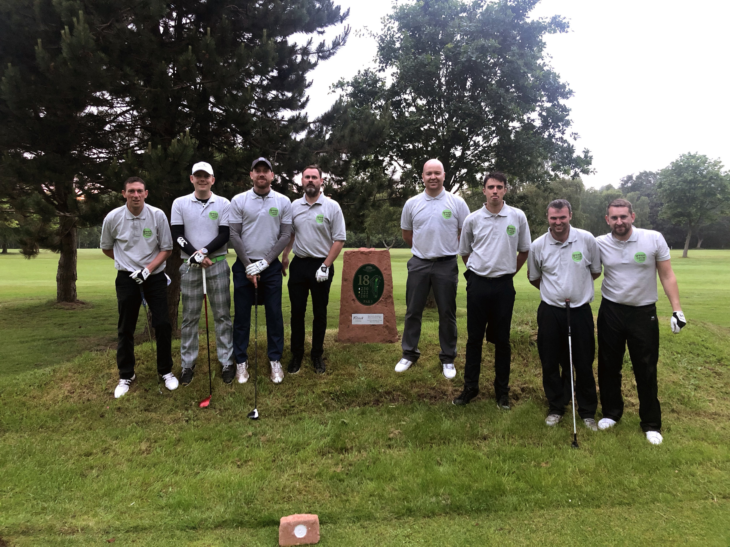 From Left to right Chris Williams, Craig Coley, Dave Roche, Nick Hilton, Bryan Joelson-Mulhall, Josh Hall, James Houghton and Edward Ridding.