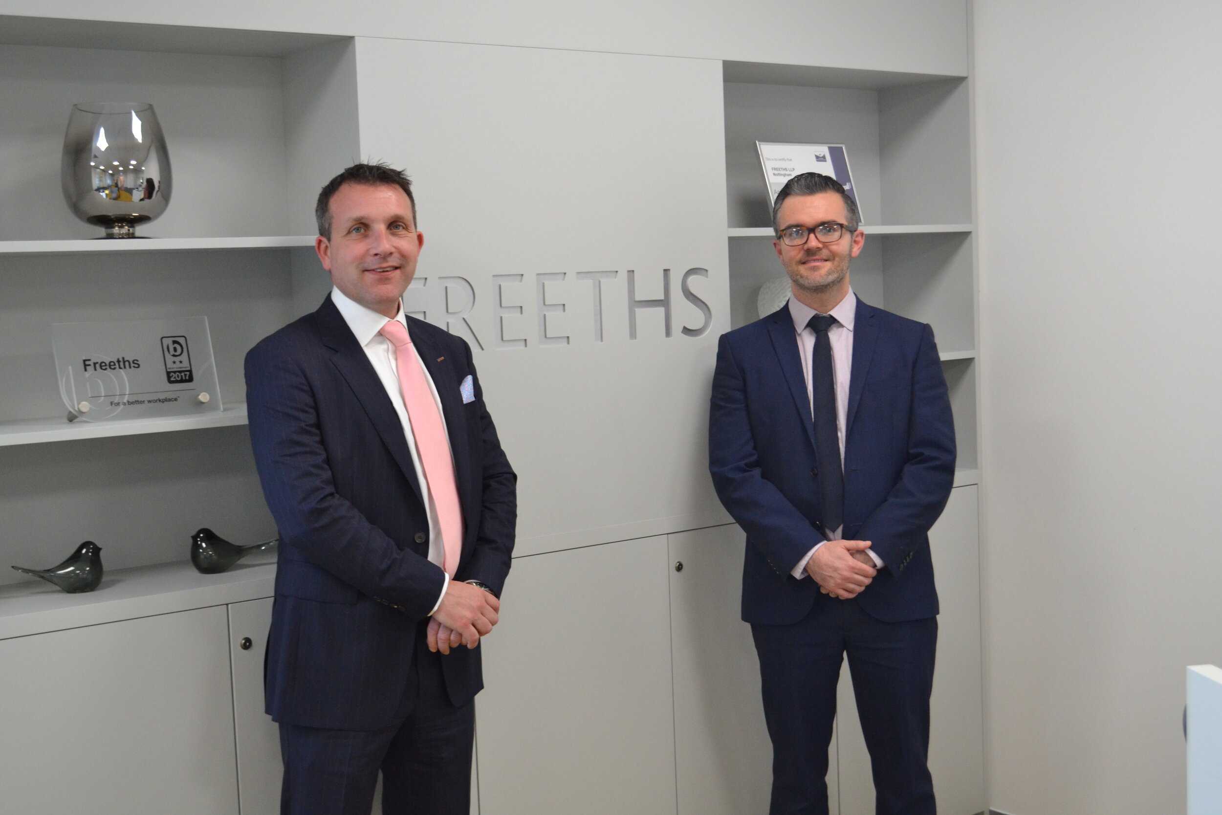 Andrew Nichol (left) and Luke Hopkins (right) from Freeths Solicitors