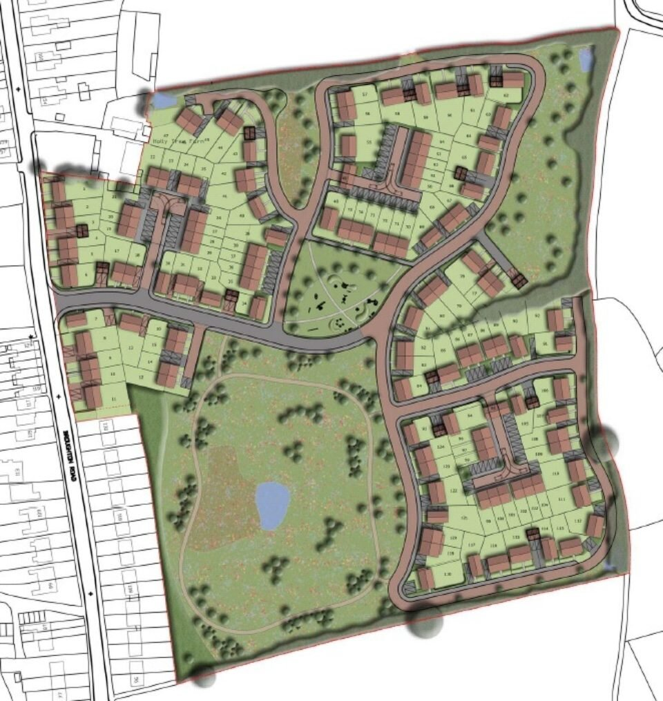 Site layout by Tesni Homes