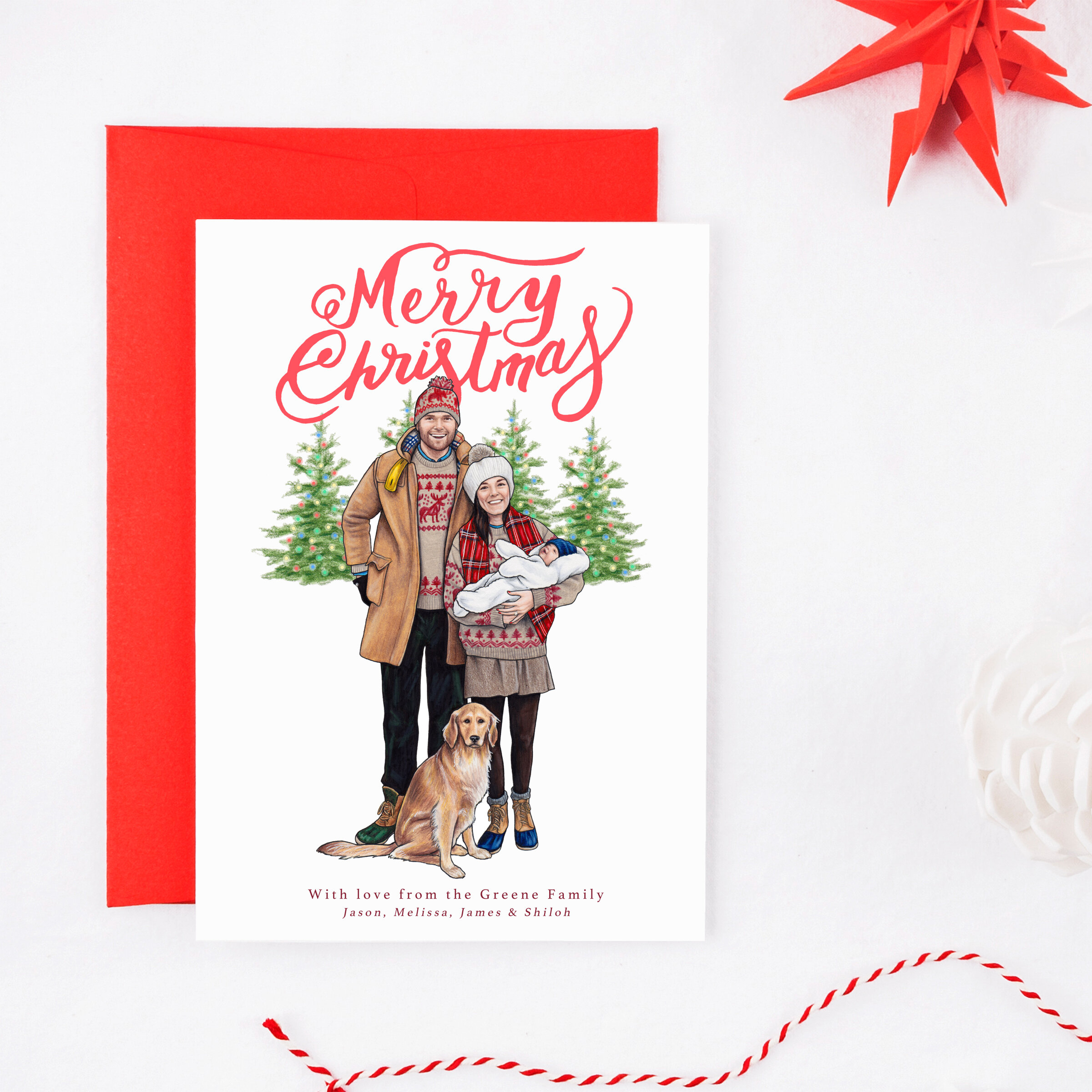 Custom Portrait Holiday Cards