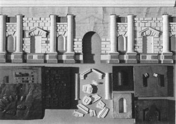 Guiliano Romano, Palazzo del Te, 1526-1534.  Analytical model by Janine Centuori and Evan Douglis. Fourth Year Studio, the Cooper Union, 1980.