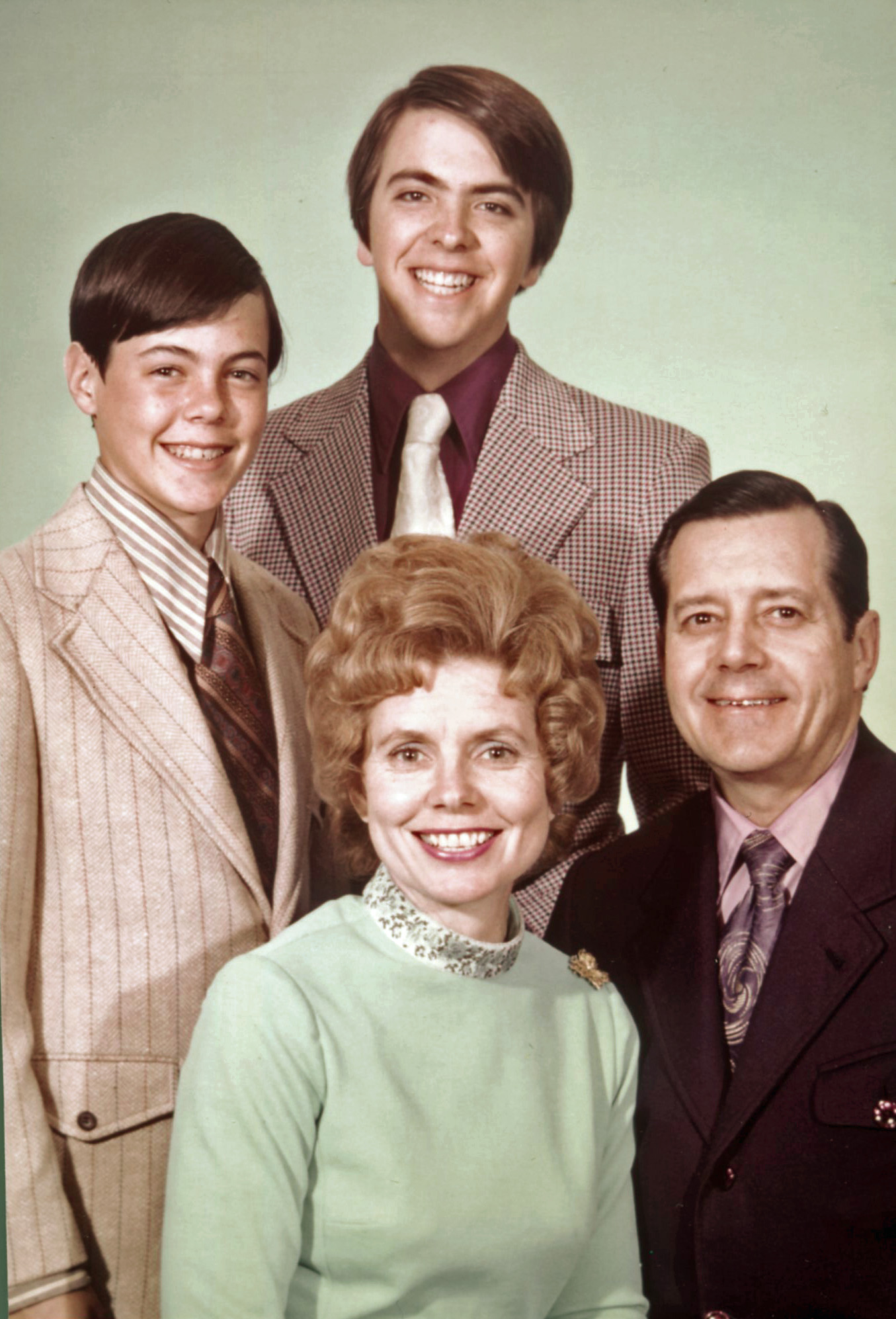 Bill & Vonette with Sons Brad & Zachery – 1970's