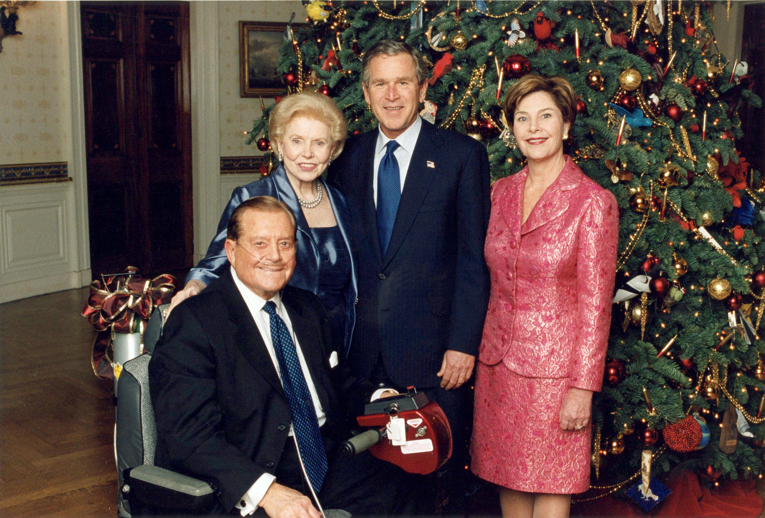 President George & Laura Bush with Bill & Vonette Bright – 2002