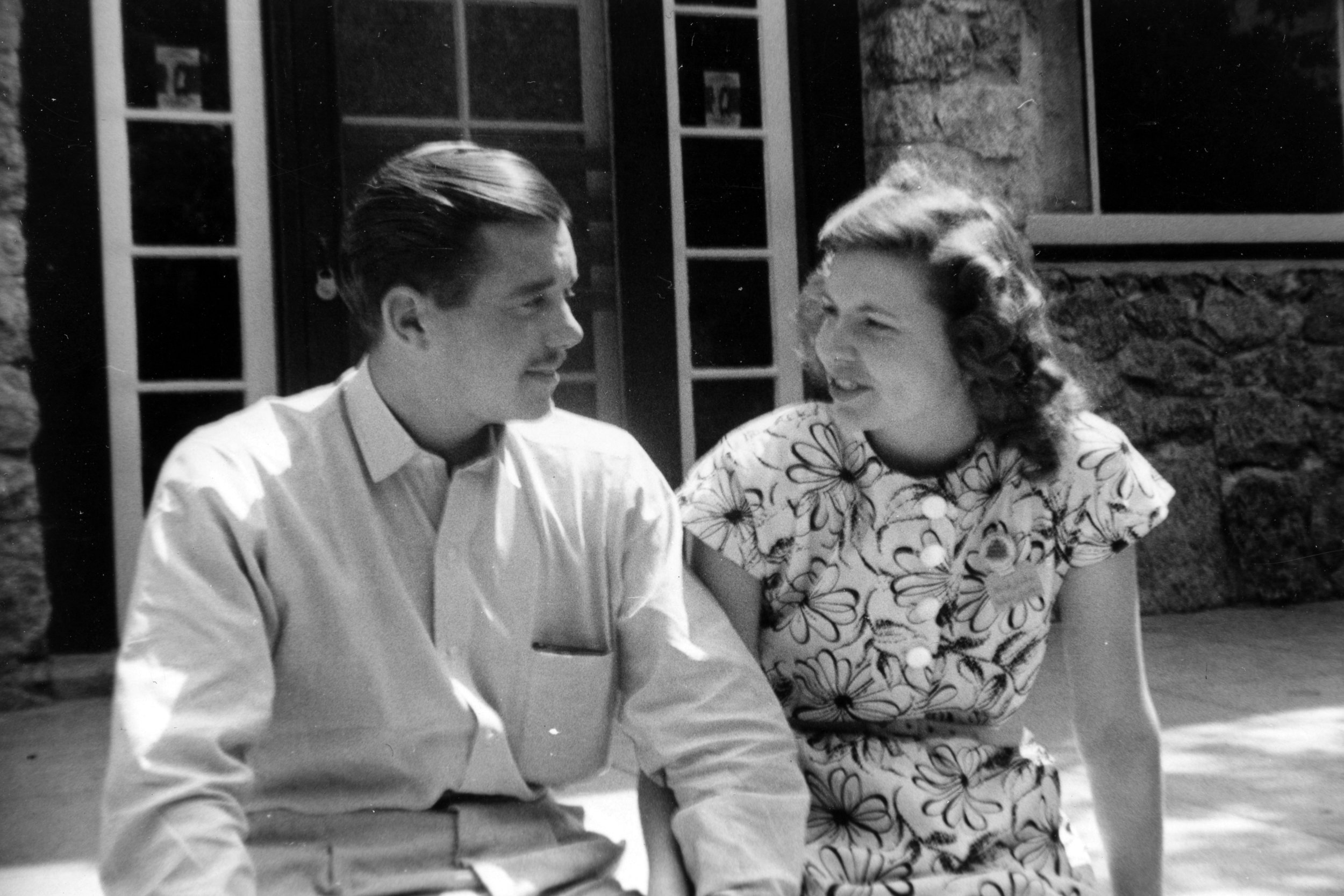 Bill and Vonette at Forest Home in 1946–deciding that God has called them to each other.