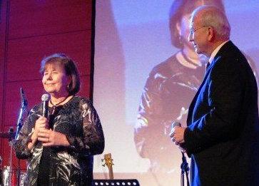 Steve and I speaking in partnership in Albania
