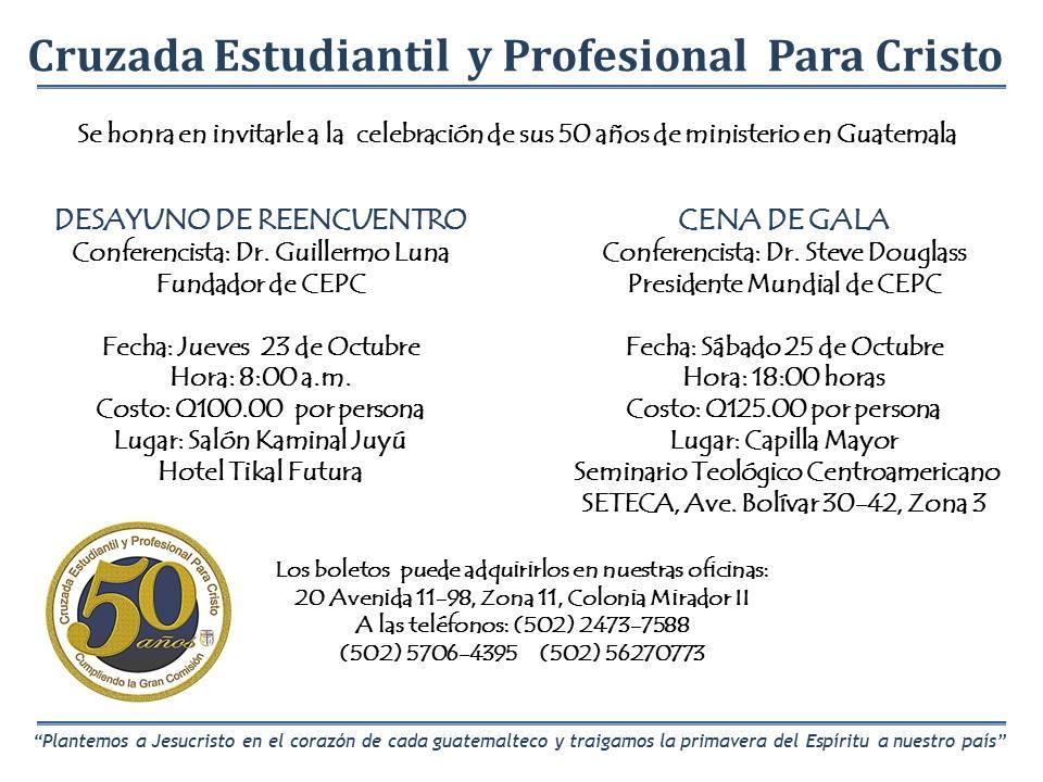 Invitation to Celebration events