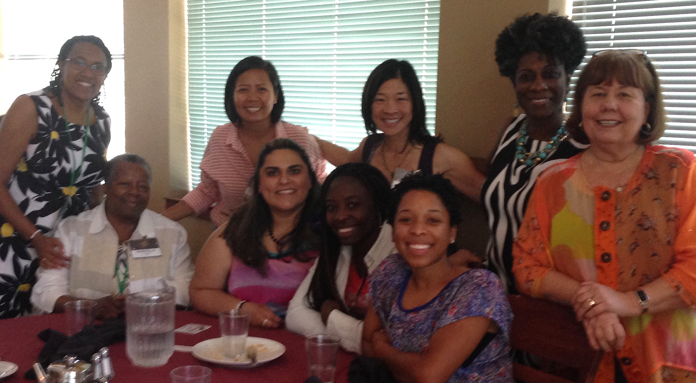 My table at ethnic women leaders lunch