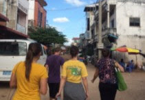 Our Justice Team in Svay Pak, Cambodia. This street was once the most notorious place in Cambodia for child sex trafficking, but because of the work of IJM and Agape Int'l Mission, that is no longer a reality. This is where our Summer Mission team will be working.