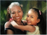 Portrait of Meena and her young daughter, who was rescued by Tiny Hands Int'l in Nepal.