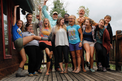 Part of our Cru Justice Team. These are our interns for 2015-2016 at our annual Justice intern training. We do have fun!