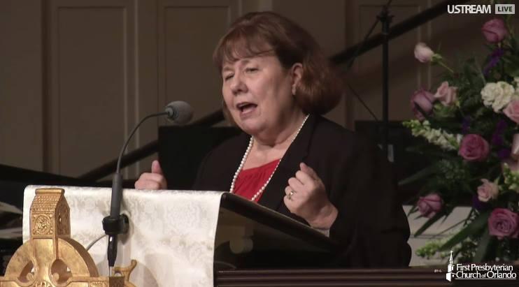 Speaking at Vonette's Memorial