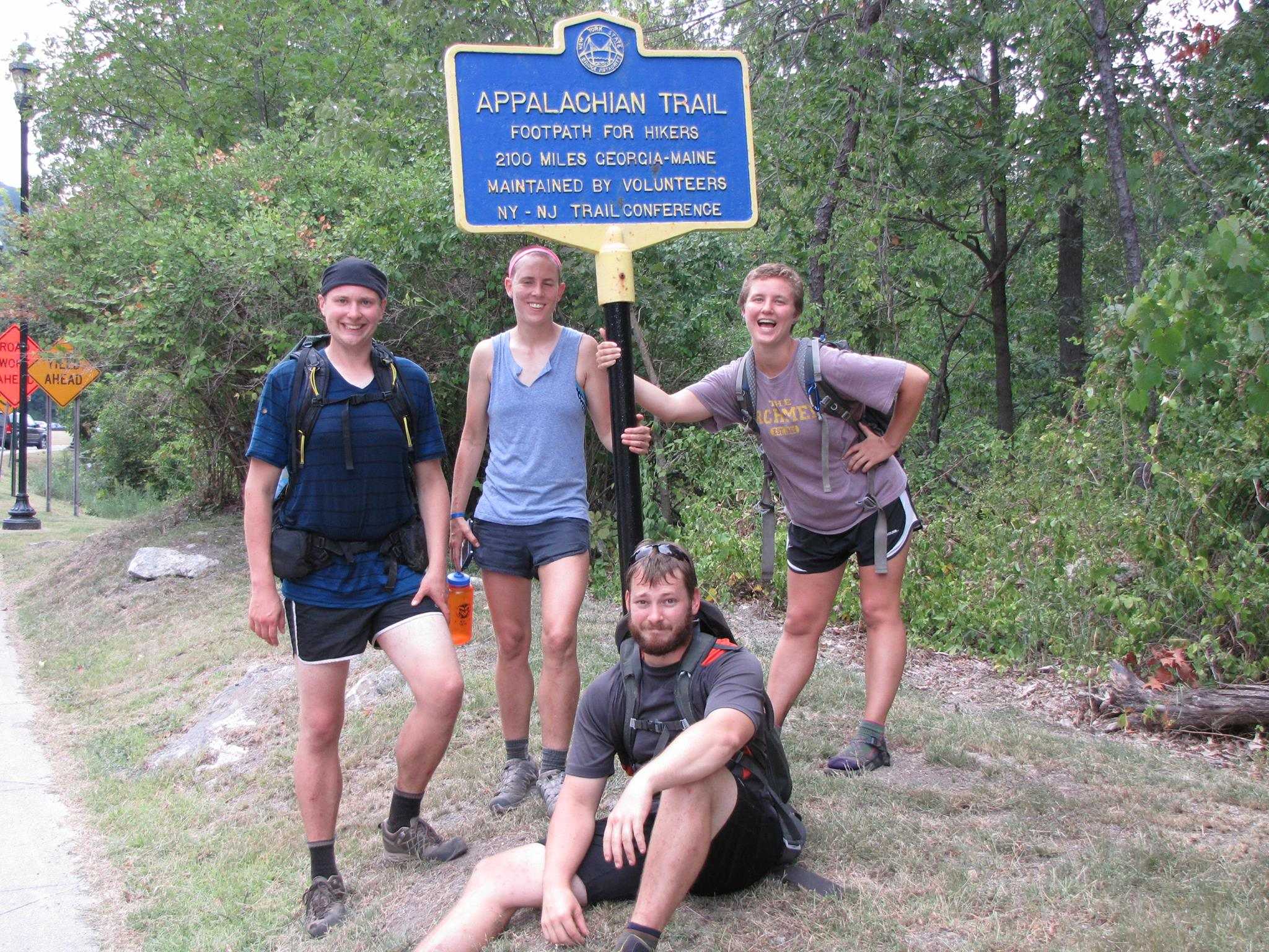 Becky and friends on Appalachian Trail