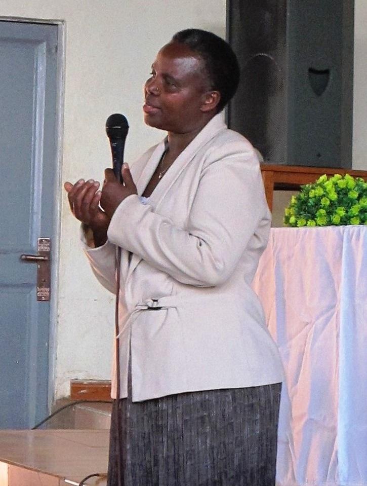 Joy introducing Judy to church women