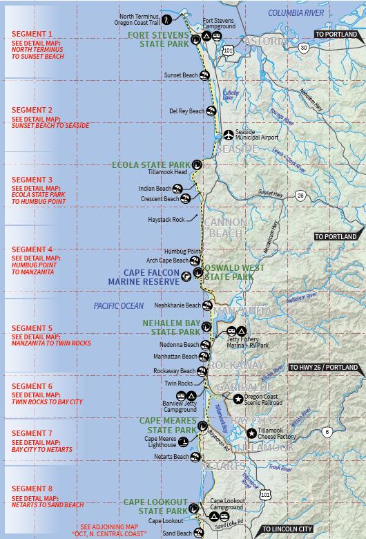 maps of oregon coast Maps Oregon Coast Trail Foundation maps of oregon coast