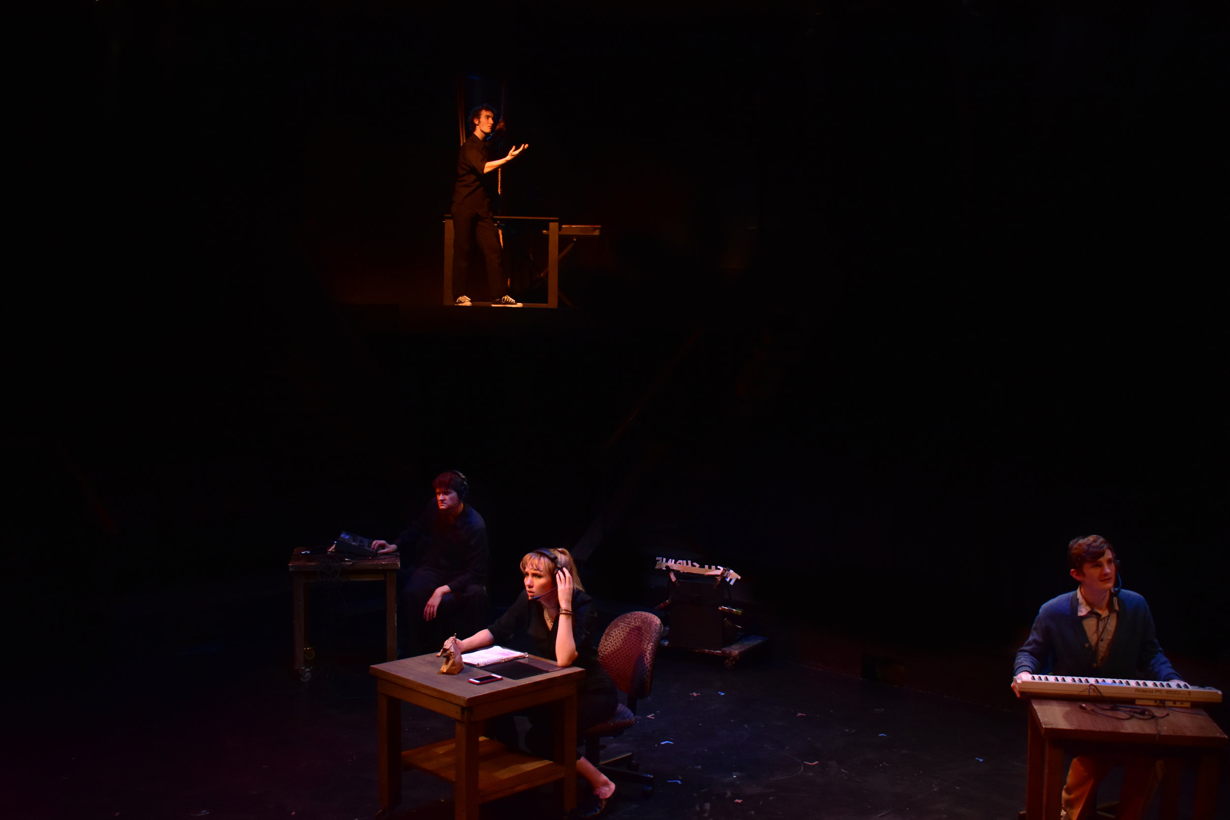 Tech Booth: The Musical   Directed by Katie McLoughlin  Photo by Lucinda Culver, 2018