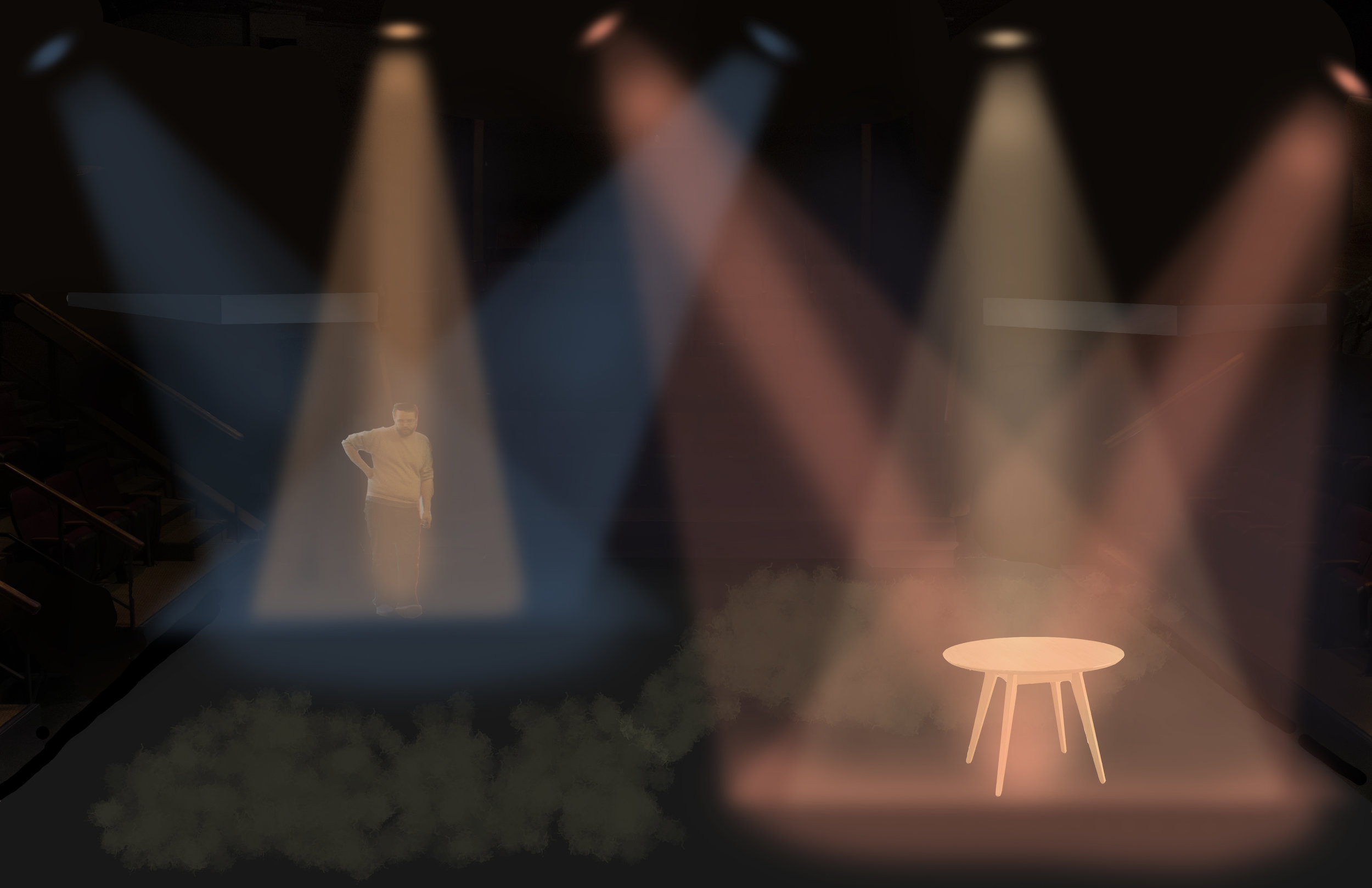 Rendering for  The Battle at Bull Run Always Makes Me Cry,  10 Minute Play Festival  Directed by Kit Taylor
