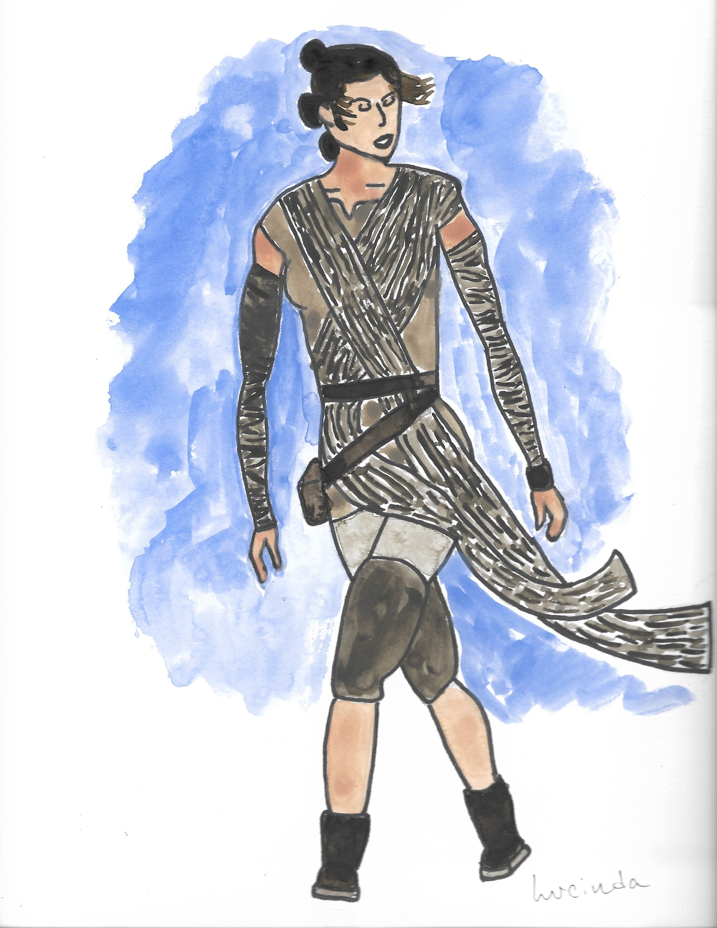 Costume Rendering Exercise of Rey from  Star Wars: The Force Awakens