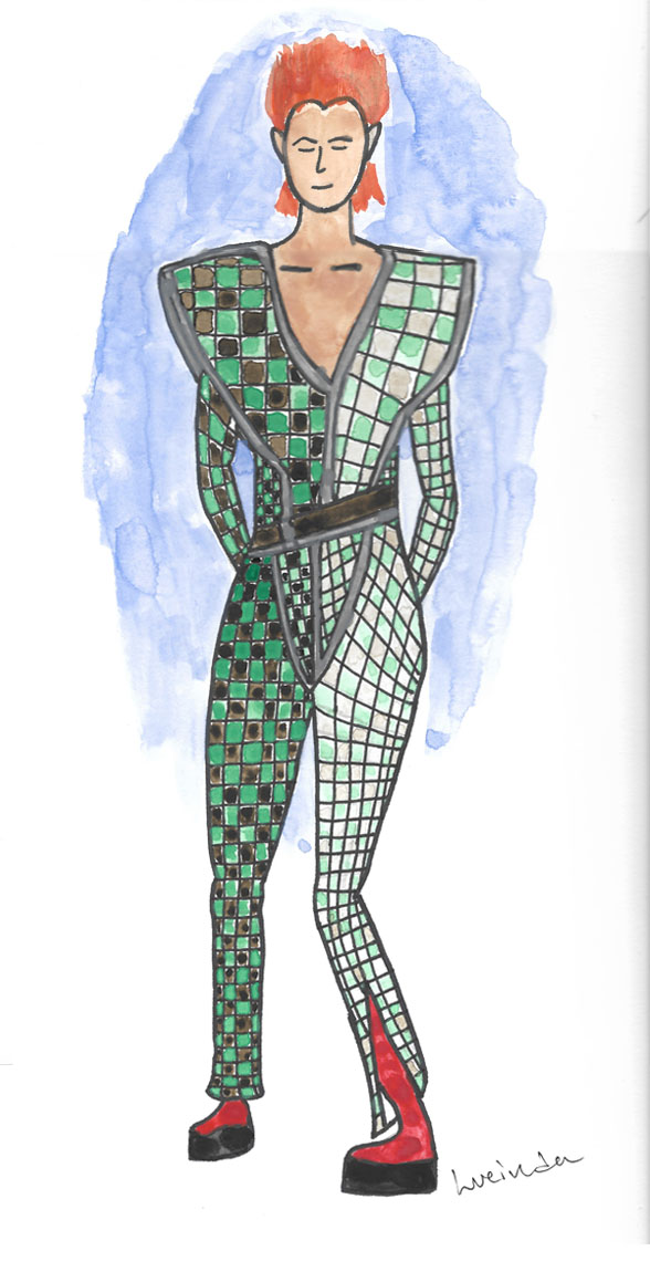 Costume Rendering Exercise of David Bowie